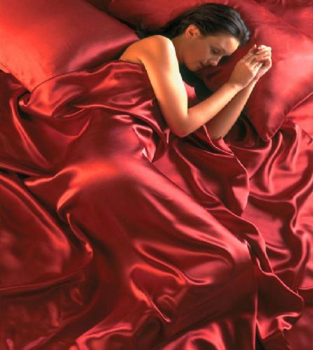 RED COLOUR STYLISH SATIN LUXURY BEDDING DUVET QUILT COVER SET